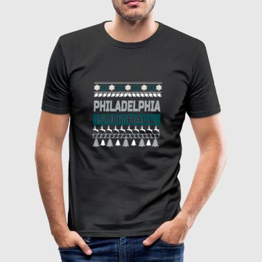 Ugly Sweater Philadelphia - Männer Slim Fit T-Shirt
