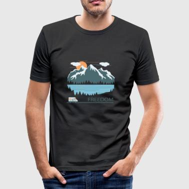 Camping - Männer Slim Fit T-Shirt