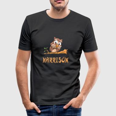 Eule Harrison - Männer Slim Fit T-Shirt