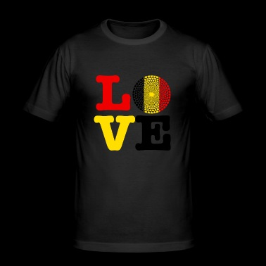 Belgium heart - Men's Slim Fit T-Shirt