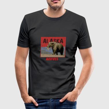 alaska ankom - Herre Slim Fit T-Shirt