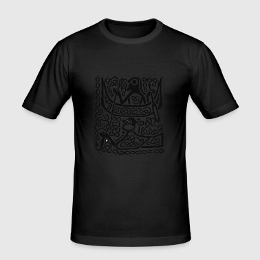 Viking Hunter antique pattern - Men's Slim Fit T-Shirt