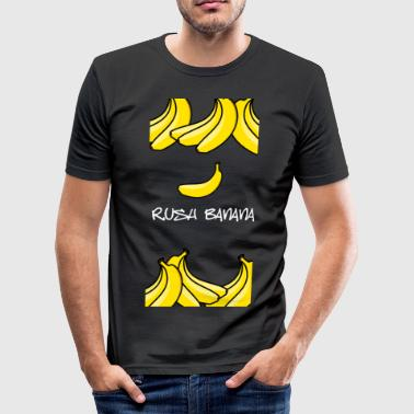 rushbananawhite - Männer Slim Fit T-Shirt