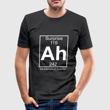 Spoof Ah - the Element of Surprise - Männer Slim Fit T-Shirt