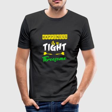 Happiness is a tight threesome darts darts gift - Men's Slim Fit T-Shirt