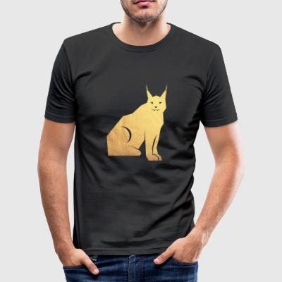 gold luchs - Männer Slim Fit T-Shirt