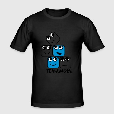 Teamwork - Männer Slim Fit T-Shirt