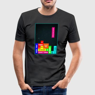 tetris - Männer Slim Fit T-Shirt