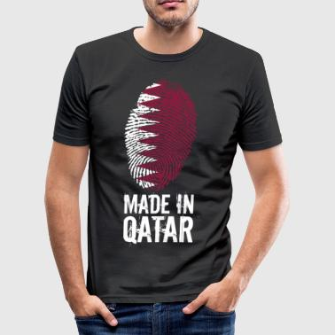 Made In Qatar / Katar / قطر - Männer Slim Fit T-Shirt