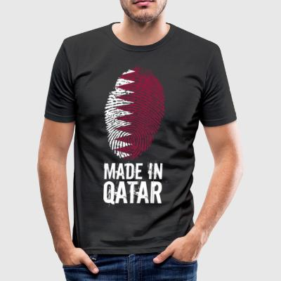 Made In Qatar / Qatar / قطر - Men's Slim Fit T-Shirt