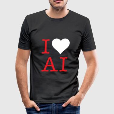 AI LOVE - Men's Slim Fit T-Shirt