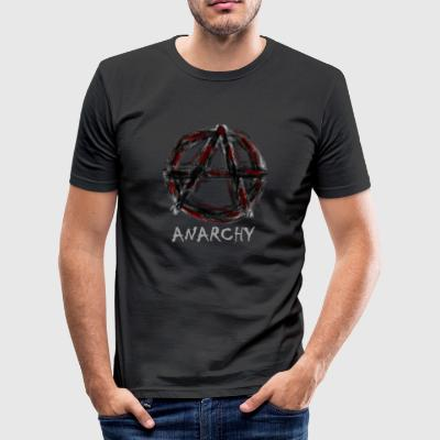 Anarchie - Männer Slim Fit T-Shirt