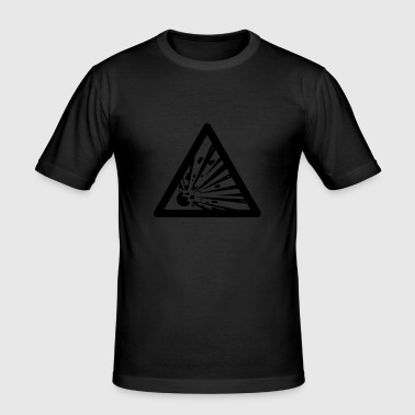 Hazard Symbol - Explosives - Men's Slim Fit T-Shirt
