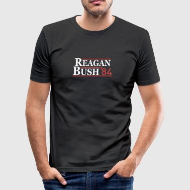 Vintage 80s Reagan Bush 84 Republican Political - Men's Slim Fit T-Shirt