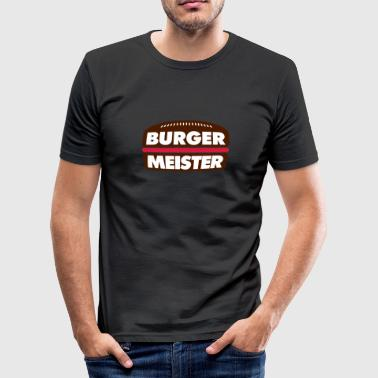 Burger Meister | Burger | Fast Food - Men's Slim Fit T-Shirt