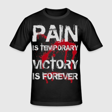 Pain is temporary, Victory is forever (White) - Herre Slim Fit T-Shirt