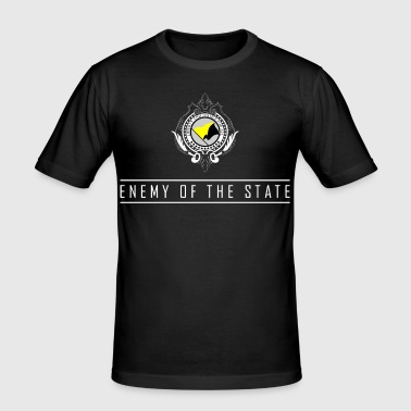 Enemy of the State - AnCap - Männer Slim Fit T-Shirt