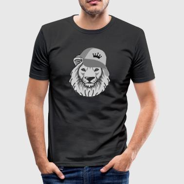 Lion reggae hip-hop - Slim Fit T-skjorte for menn