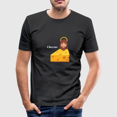 Cheesus - Männer Slim Fit T-Shirt