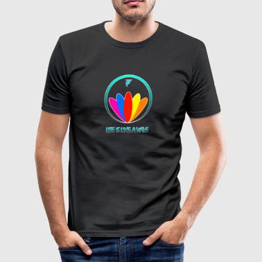 Life is like a Wave - Männer Slim Fit T-Shirt
