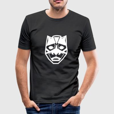 vit mask - Slim Fit T-shirt herr
