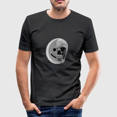 smiley coal - Men's Slim Fit T-Shirt