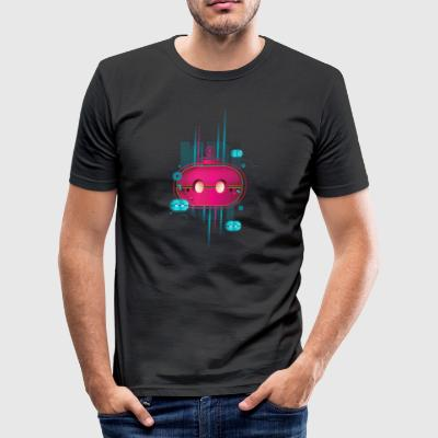 magenta KAiSERBOT - Tee shirt près du corps Homme