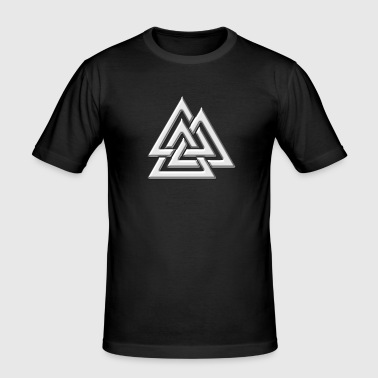 Valknut, Wotan's Knot, Walknot, Odin, Valhalla - Men's Slim Fit T-Shirt