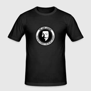 Anonymous - we are legion - Männer Slim Fit T-Shirt