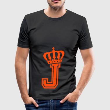 letter J - slim fit T-shirt