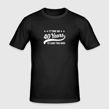 40years - Slim Fit T-skjorte for menn