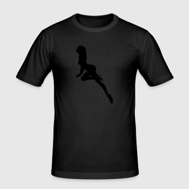 sexy girl - Männer Slim Fit T-Shirt