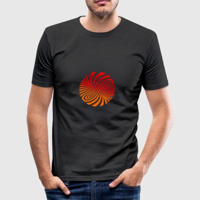 BRSpirale_2 - Herre Slim Fit T-Shirt
