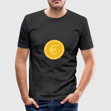 euro coin - Men's Slim Fit T-Shirt