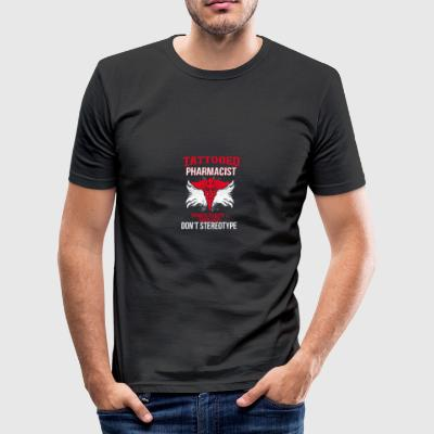 Horny, horny, Tattooed - Men's Slim Fit T-Shirt