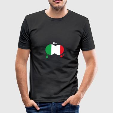 flag Italy - Tee shirt près du corps Homme