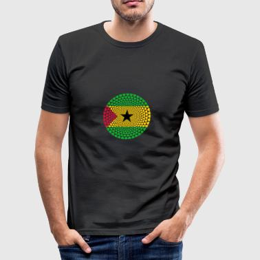 SAO TOME PRINCIPE Love HEART Mandala - Men's Slim Fit T-Shirt