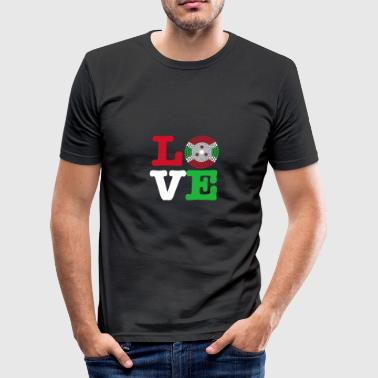 Burundi heart - Men's Slim Fit T-Shirt