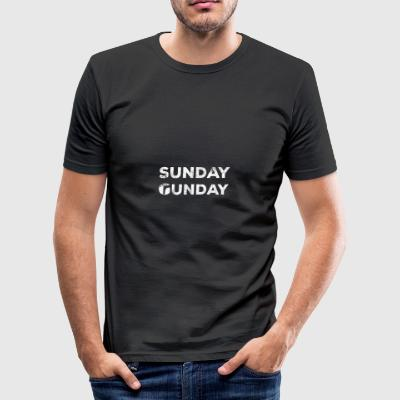 Military / Soldiers: Sunday Gunday - Men's Slim Fit T-Shirt