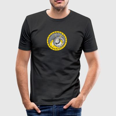 Sonnenuhr Sonnenfinsternis Solar eclipse horoskop - Männer Slim Fit T-Shirt
