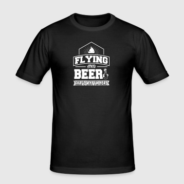 Flying AND BEER - Men's Slim Fit T-Shirt