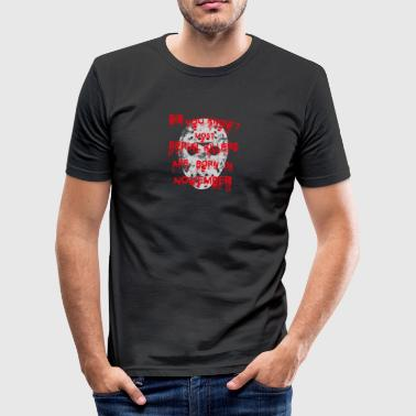 GESCHENK halloween jason killer maske NOVEMBER - Männer Slim Fit T-Shirt