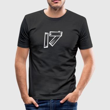Nummer 17 Sytten træ-look HATRIK DESIGN - Herre Slim Fit T-Shirt