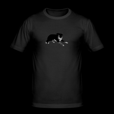 Border Collie - Men's Slim Fit T-Shirt