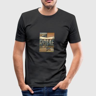 Roma Roma Roma by design som en souvenir - Slim Fit T-skjorte for menn