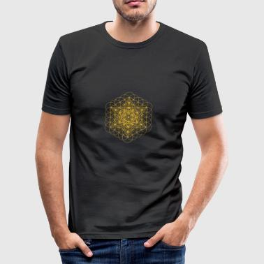 metatrons cube - Men's Slim Fit T-Shirt