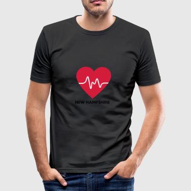 Heart New Hampshire - Herre Slim Fit T-Shirt