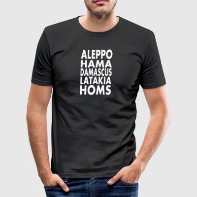 Syria Aleppo, Hama, Damascus, Latakia, Homs - Men's Slim Fit T-Shirt