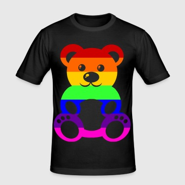 Gay Pride - Teddybear - EN - Men's Slim Fit T-Shirt