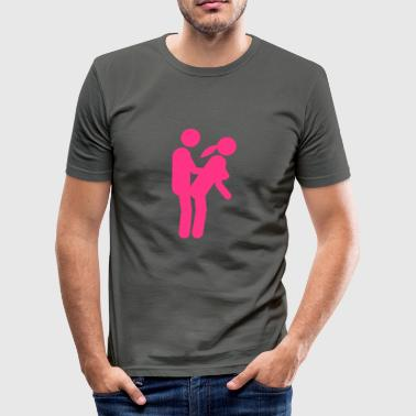sexe position amour icone 1002 - Tee shirt près du corps Homme
